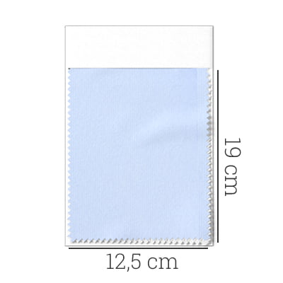 Amostra - Tecido Tricoline Fio 100 - Tot 02 - Liso - Azul Claro