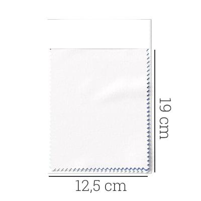 Amostra - Tecido Tricoline Fio 50 - Údine 01 - Maquinetado - Branco