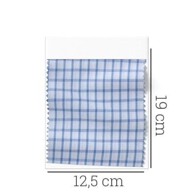 Amostra - Tecido Tricoline Fio 60 - Alexandria 100 - Xadrez P Azul Claro