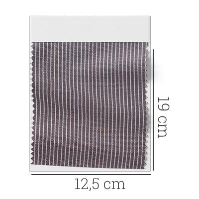 Amostra - Tecido Tricoline Fio 60 - Alexandria 62 - Micro Listra Branca