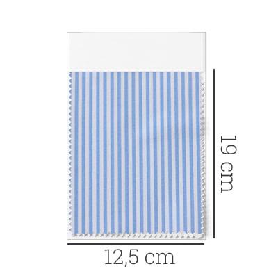 Amostra - Tecido Tricoline Fio 70 - Anit 18 - Listras P - Azul Claro