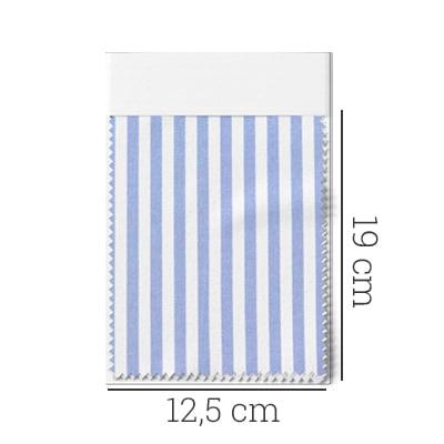 Amostra - Tecido Tricoline Fio 70 - Anit 21 - Listras M - Azul Claro
