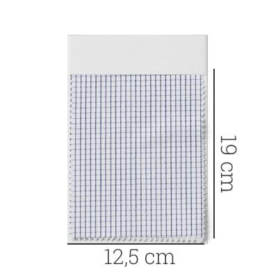 Amostra - Tecido Tricoline Fio 70 - Anit 30 - Xadrez Micro - Preto