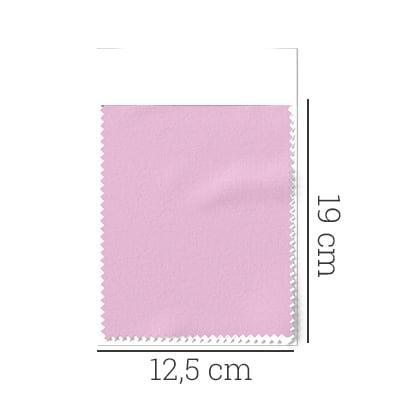 Amostra - Tecido Tricoline Fio 50 -  Sais 04 - Liso - Rosa