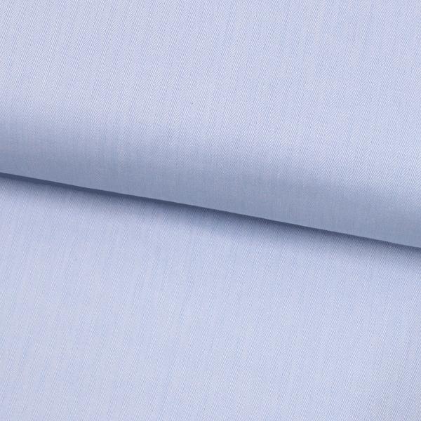 Tecido Camisaria Tricoline Fio 50 - Bolonha 04 - Maquinetado - Azul Claro - 100% Algodão