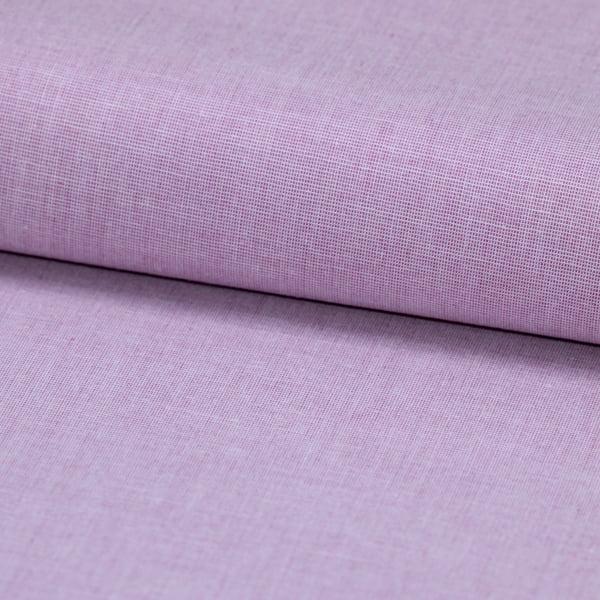 Tecido Tricoline Fio 50  - Filas 21 - Liso - Rosa Lichia - 100% Algodão