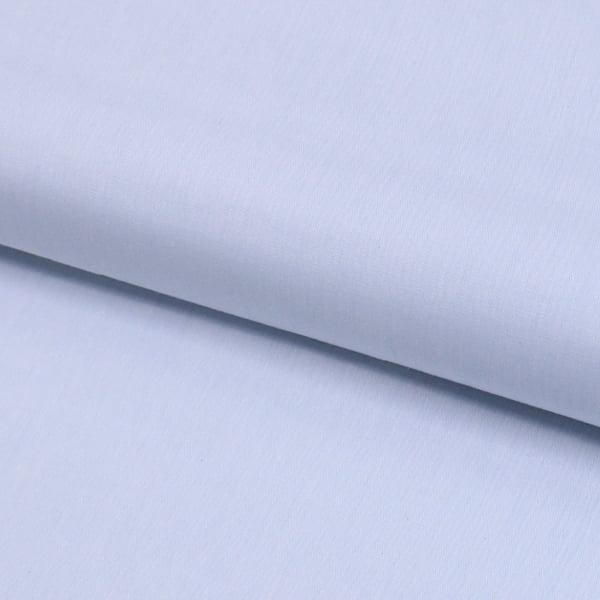 Tecido Camisaria Tricoline Fio 40  - Neith 06 - Liso - Azul Suave  - 100% Algodão