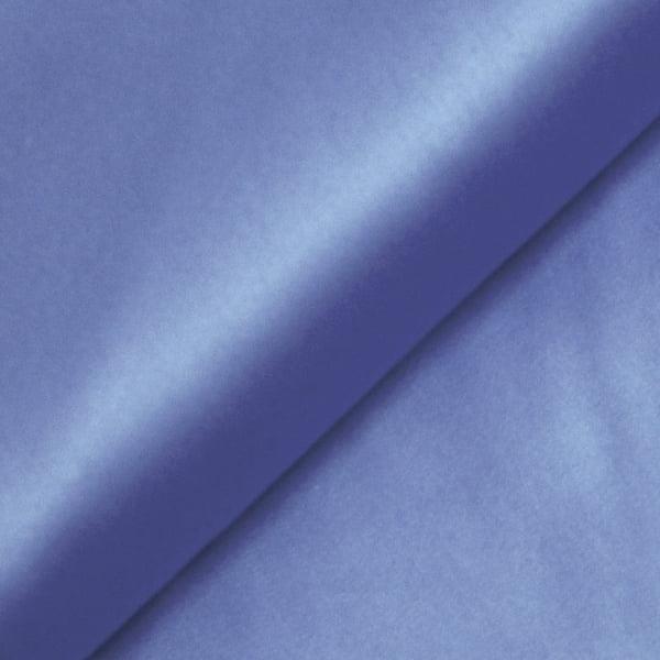 Tecido Tricoline Fio 100 - Luxor 24 - Liso Acetinado - Azul Monarca - 100% Algodão