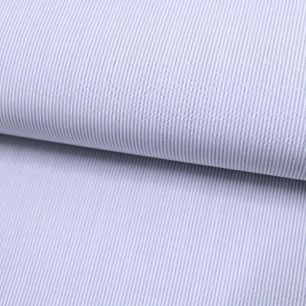 Tecido Tricoline Fio 70 - Anit 09 - Listras Micro - Cinza - 100% Algodão