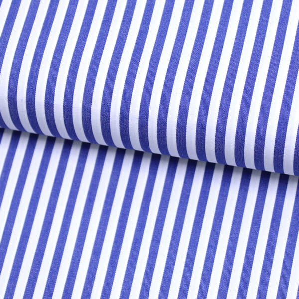Tecido Tricoline Fio 70 - Anit 36 - Listras - Azul Royal