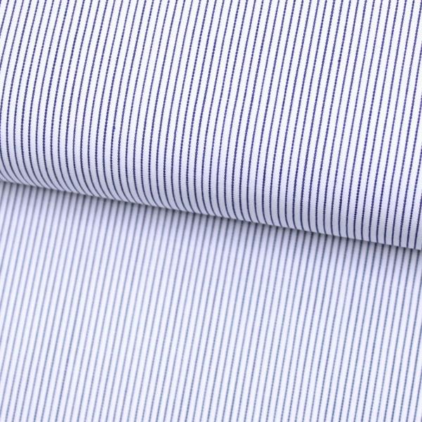 Tecido Tricoline Fio 70 - Anit 40 - Listras PP  - Azul Marinho