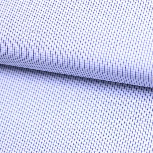 Tecido Camisaria Tricoline Fio 70 - Anit 48 - Xadrez Micro - Azul Royal - 100% Algodão