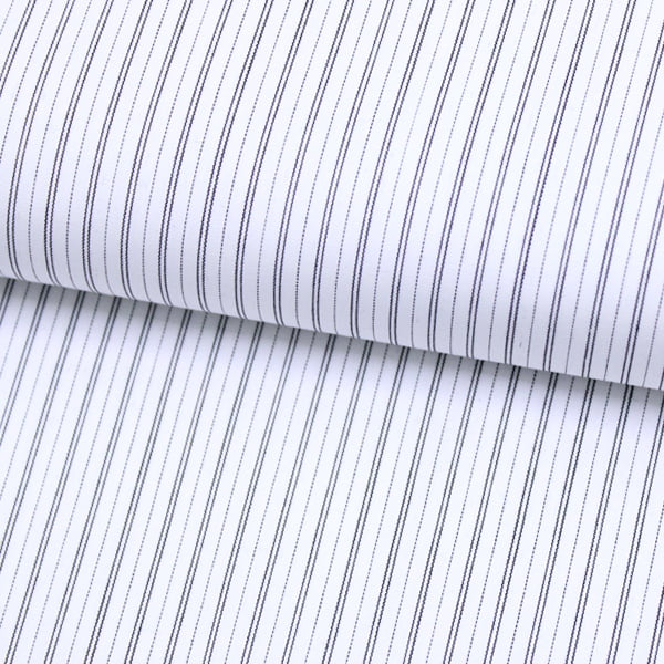 Tecido Tricoline Fio 70 - Anit 49 - Listras Duplas - Preto