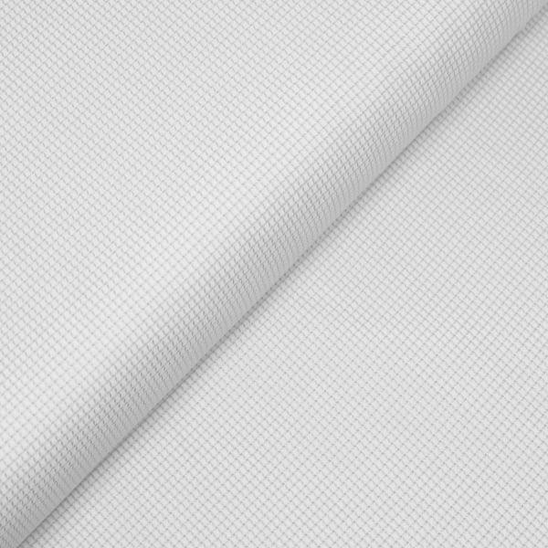 Tecido Tricoline Fio 80 - Marssala 01 - Maquinetado - Branco
