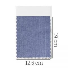 Amostra - Tecido Tricoline Fio 50 - Bolonha 05 - Maquinetado - Azul Escuro