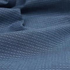 Amostra - Tecido Tricoline Fio 50 - Údine 04- Maquinetado - Azul Marinho