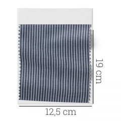 Amostra - Tecido Tricoline Fio 60 - Alexandria 07 - Micro Listra Branca
