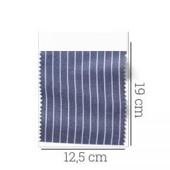 Amostra - Tecido Tricoline Fio 60 - Alexandria 103 - Listra P Branca