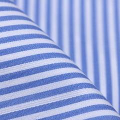 Amostra - Tecido Tricoline Fio 60 - Alexandria 105 - Listra M Azul Claro