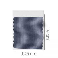 Amostra - Tecido Tricoline Fio 60 - Alexandria 109 - Micro Listra Cinza