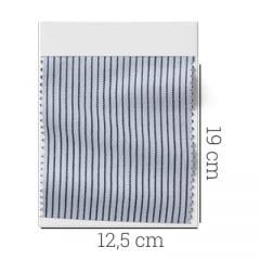 Amostra - Tecido Tricoline Fio 60 - Alexandria 26 - Micro Listra Marinho