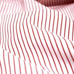 Amostra - Tecido Tricoline Fio 70 - Anit 16 - Listras - Vermelho Cereja