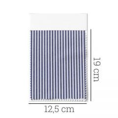 Amostra - Tecido Tricoline Fio 70 - Anit 19- Listras P - Azul Marinho