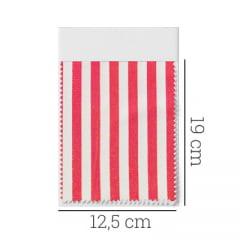 Amostra - Tecido Tricoline Fio 70 - Anit 35 - Listras - Vermelho