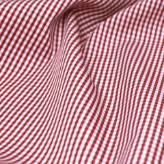 Amostra - Tecido Tricoline Fio 70 - Anit 39 - Xadrez P - Vermelho