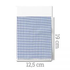 Amostra - Tecido Tricoline Fio 80 - Anubis 15 - Xadrez - Azul
