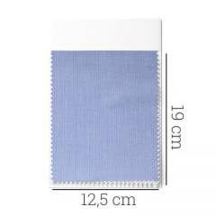 Amostra - Tecido Tricoline Fio 80 - Bréscia - Maquinetado - Azul