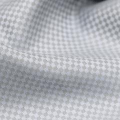 Tecido Camisaria Tricoline Fio 50 - Miniíses 06 - Maquinetado - Azul Cinza - 100% Algodão