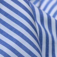 Tecido Tricoline Fio 40 - Fio Tinto Listra G - Azul Royal - 100% Algodão
