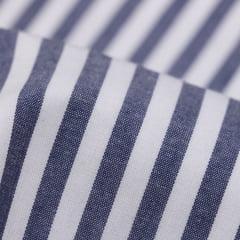 Tecido Tricoline Fio 40 - Fio Tinto Listra G - Marinho - 100% Algodão