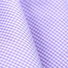 Tecido Tricoline Fio 40 - Vichy 31 - Fio Tinto Xadrez P - Lilas - 100% Algodão