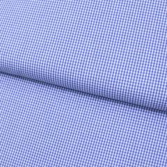 Tecido Tricoline Fio 40 - Vichy 34 - Fio Tinto Xadrez P - Azul Royal - 100% Algodão