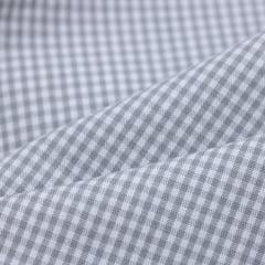Tecido Tricoline Fio 40 - Vichy 37 - Fio Tinto Xadrez P - Cinza - 100% Algodão
