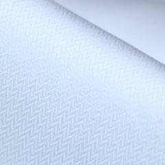 Tecido Tricoline Fio 50  - Amutek -  Maquinetado - Branco - 100% Algodão