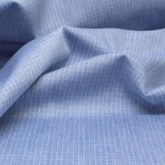 Tecido Tricoline Fio 50 - Údine 03 - Maquinetado - Azul Cinza