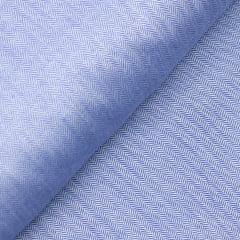 Tecido Camisaria Tricoline Fio 50 - Veneza 02  - Maquinetado - Azul - 100% Algodão