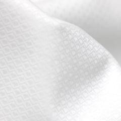 Tecido Tricoline Fio 50 - Pisa - Maquinetado - Branco