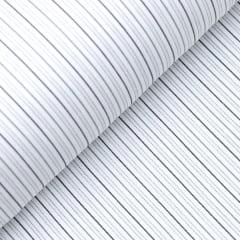 Tecido Tricoline Fio 50 - Sais 09 - Listras  - Cinza Tons