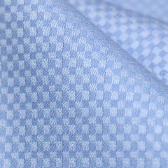 Tecido Tricoline Fio 50 - Miniíses 02 - Maquinetado - Azul Claro
