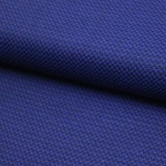 Tecido Tricoline Fio 50 - Miniíses 03 - Maquinetado - Azul Marinho e Preto