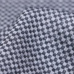 Tecido Tricoline Fio 50 - Miniíses 05 - Maquinetado - Cinza - 100% Algodão