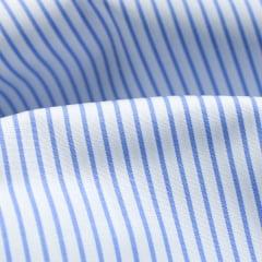 Tecido Tricoline Fio 80 - Anubis 14 - Listra - Azul - 100% Algodão