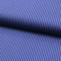 Tecido Tricoline Fio 60 - Alexandria 145 -  Listra P Azul Claro - Fundo Azul Marinho