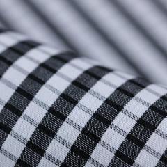 Tecido Tricoline Fio 60 - Alexandria 153 - Xadrez P Branco e Preto - 100% Algodão