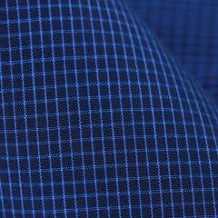 Tecido Tricoline Fio 60 - Alexandria 177 - Xadrez PP - Azul  Royal