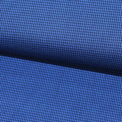 Tecido Camisaria Tricoline Fio 60 - Alexandria 177 - Xadrez PP - Azul  Royal